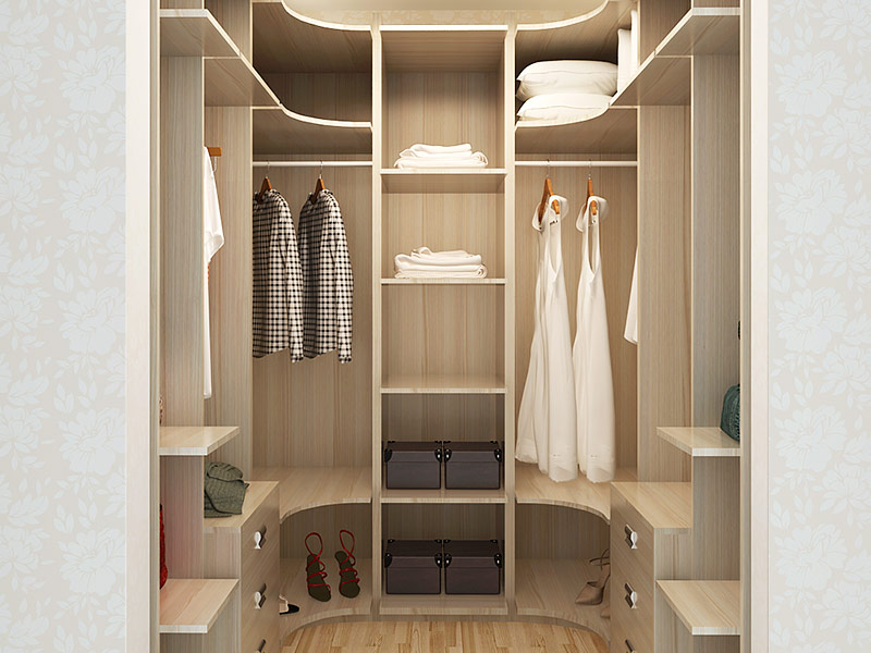 Oppein Modern Wood Grain Melamine Walk In Closet Yg14 M02