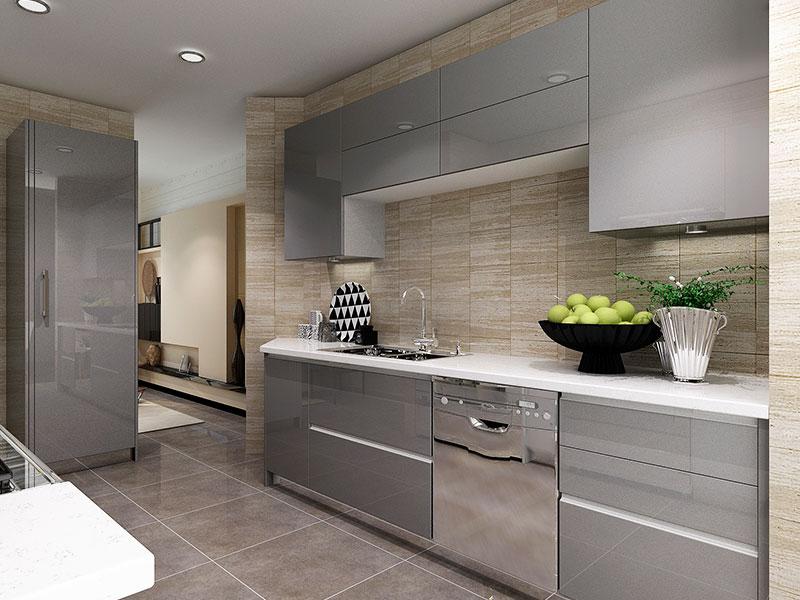 Modern High Gloss Acrylic Kitchen Cabinet OP16-A01