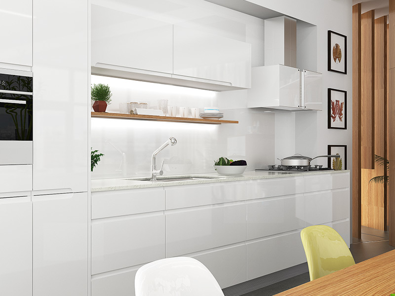 Simple white kitchen cabinets kitchen design for Basic white kitchen units