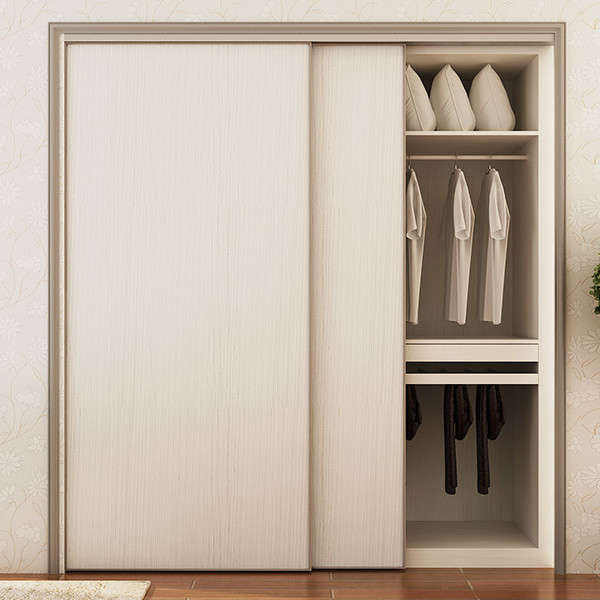 Oppein White Wood Grain Melamine Sliding Wardrobe Yg15 M03