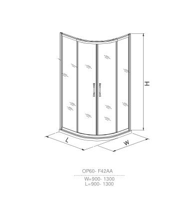 OP60-F42AA shower room