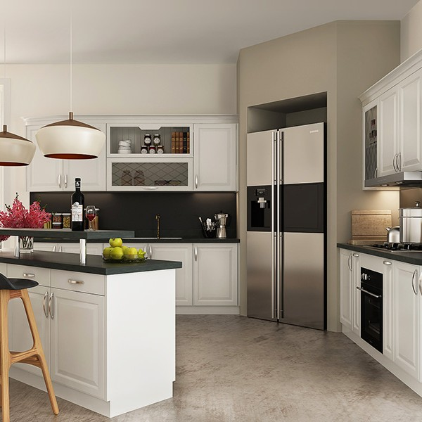 Simple White Kitchen Cabinets: Simple European Style Of White Kitchen Cabinet