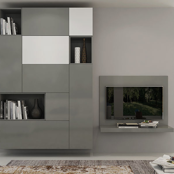 Oppein Gray Wall Mounted Tv Cabinet Tv17 L03 Oppein