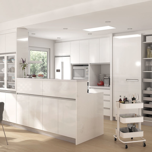 OPPEIN   10 Square Meters Japanese-Style Galley Kitchen ...