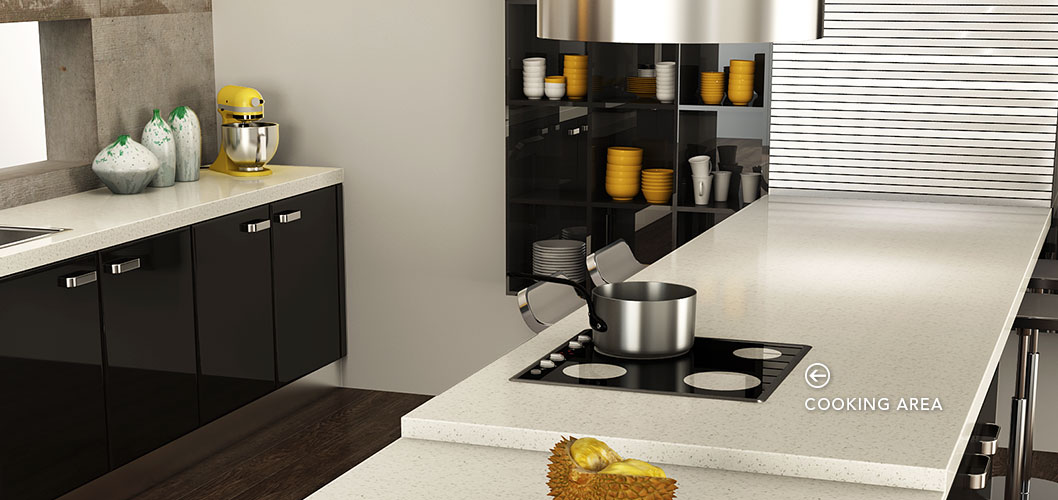 Contemporary Black Lacquer Kitchen Cabinet OP15