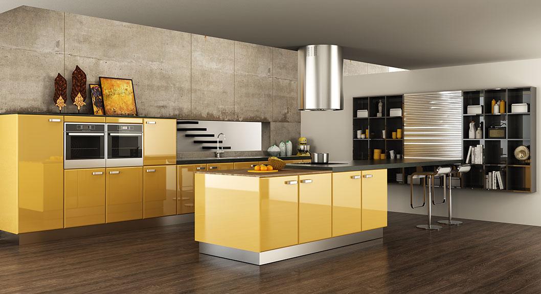 OPPEIN   Modern Elegant Acrylic Kitchen Cabinet OP15-A01 ...